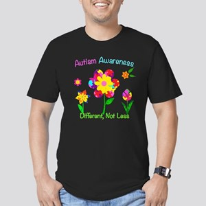 Autism Awareness Flowe Men's Fitted T-Shirt (dark)