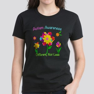 Autism Awareness Flowers Women's Dark T-Shirt
