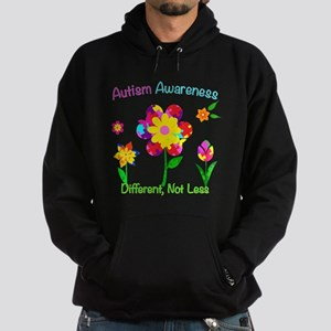 Autism Awareness Flowers Hoodie (dark)