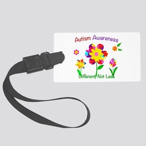 Autism Awareness Flowers Large Luggage Tag