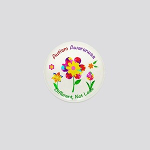 Autism Awareness Flowers Mini Button