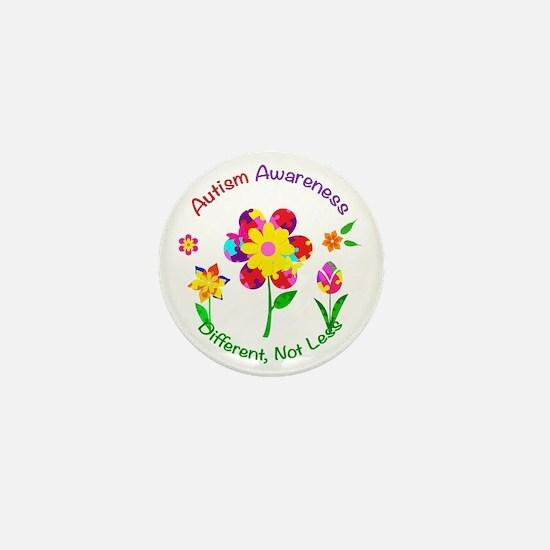 Autism Awareness Flowers Mini Button