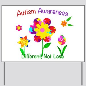 Autism Awareness Flowers Yard Sign