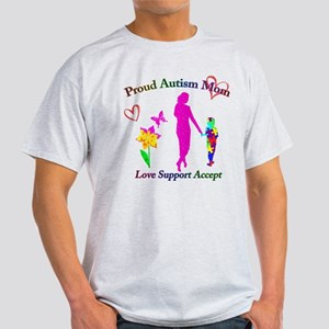 Proud Autism Mom Light T-Shirt
