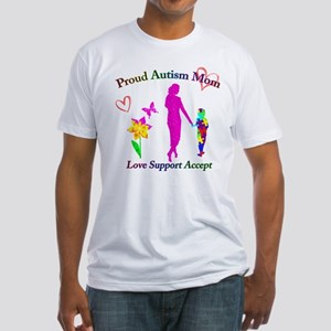 Proud Autism Mom Fitted T-Shirt