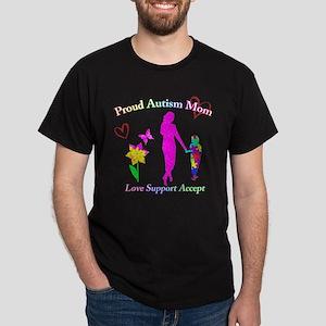 Proud Autism Mom Dark T-Shirt