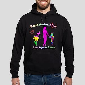 Proud Autism Mom Hoodie (dark)