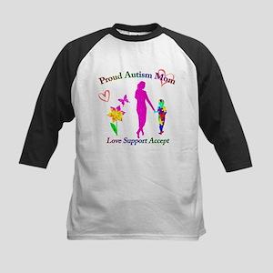 Proud Autism Mom Kids Baseball Jersey