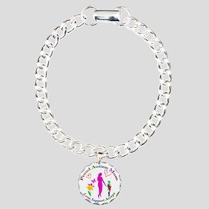 Proud Autism Mom Charm Bracelet, One Charm