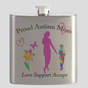 Proud Autism Mom Flask
