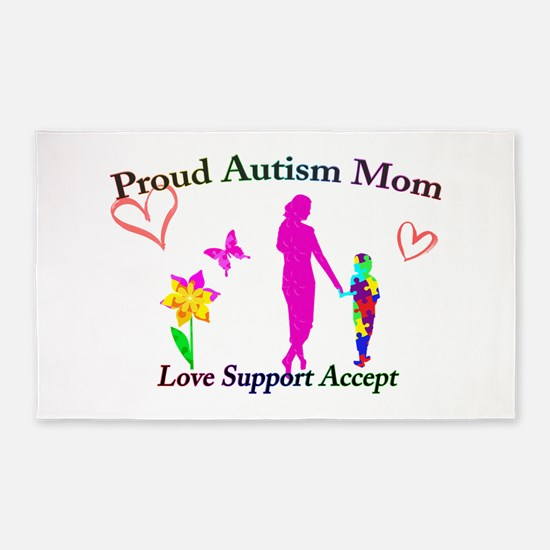 Proud Autism Mom Area Rug