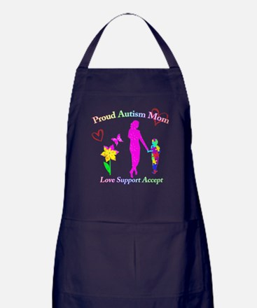 Proud Autism Mom Apron (dark)