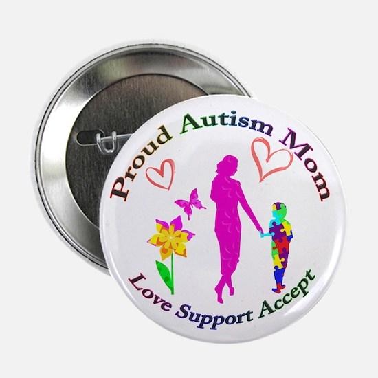 "Proud Autism Mom 2.25"" Button"