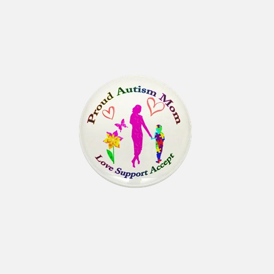 Proud Autism Mom Mini Button