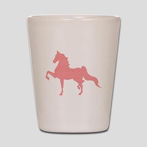 American Saddlebred - Pink pattern Shot Glass