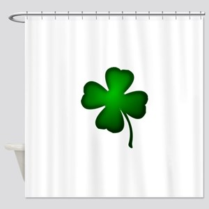Four Leaf Clover Shower Curtain
