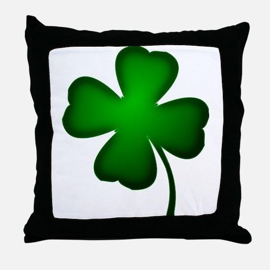 Four Leaf Clover Throw Pillow