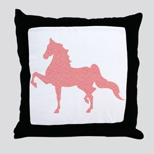 American Saddlebred - Pink pattern Throw Pillow