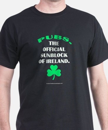 Pubs. Official Sunblock of Ireland T-Shirt
