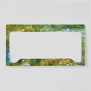 Water Garden by Childe Hassam License Plate Holder