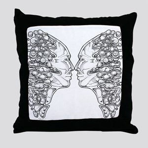 Surreal Confrontation Throw Pillow
