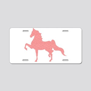 American Saddlebred - Pink Aluminum License Plate