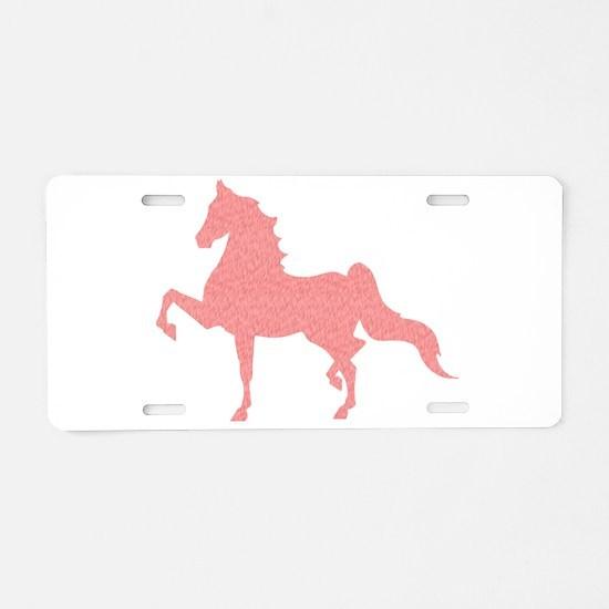 American Saddlebred - Pink Aluminum License Plate
