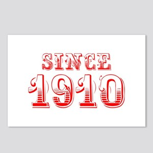 SINCE 1910-Bod red 300 Postcards (Package of 8)