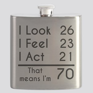 That Means Im 70 Flask