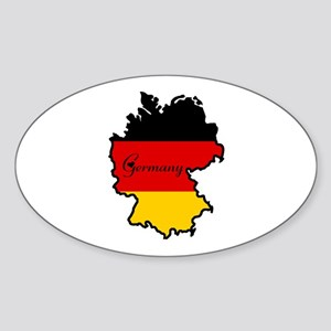 Cool Germany Oval Sticker