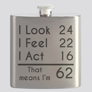That Means Im 62 Flask