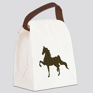 American Saddlebred - Leopard Canvas Lunch Bag