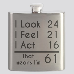 That Means Im 61 Flask