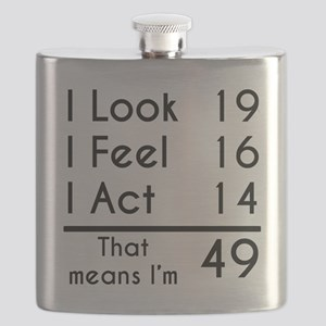 That Means Im 49 Flask