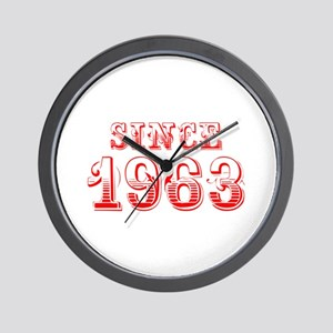 SINCE 1963-Bod red 300 Wall Clock