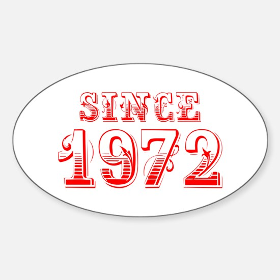 SINCE 1972-Bod red 300 Decal