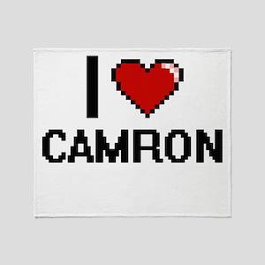 I Love Camron Throw Blanket