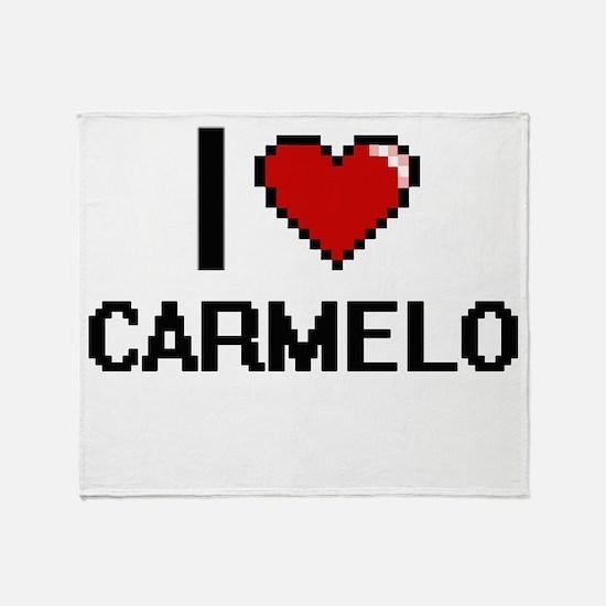 I Love Carmelo Throw Blanket