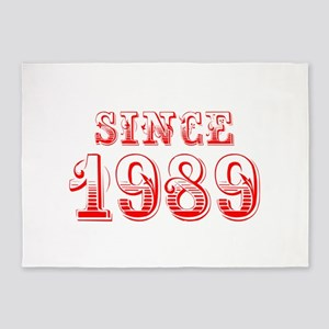 SINCE 1989-Bod red 300 5'x7'Area Rug