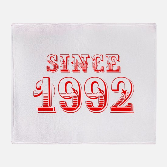 SINCE 1992-Bod red 300 Throw Blanket