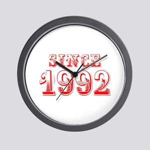 SINCE 1992-Bod red 300 Wall Clock
