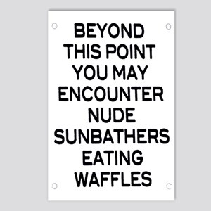 Nude Sunbathers Eating Wa Postcards (Package of 8)