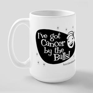Got Cancer by the Balls Large Mug