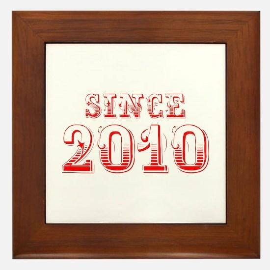 SINCE 2011-Bod red 300 Framed Tile