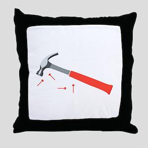 Hammer & Nails Throw Pillow
