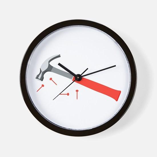 Hammer & Nails Wall Clock