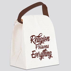 Religion Poisons Everything Canvas Lunch Bag