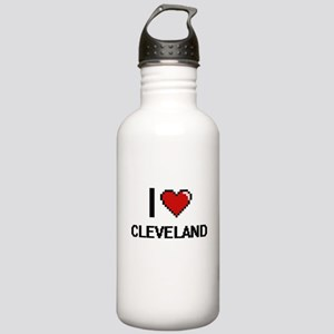 I Love Cleveland Stainless Water Bottle 1.0L