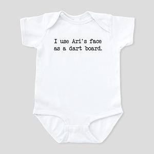 Ari's Face (blk) - Entourage Infant Bodysuit