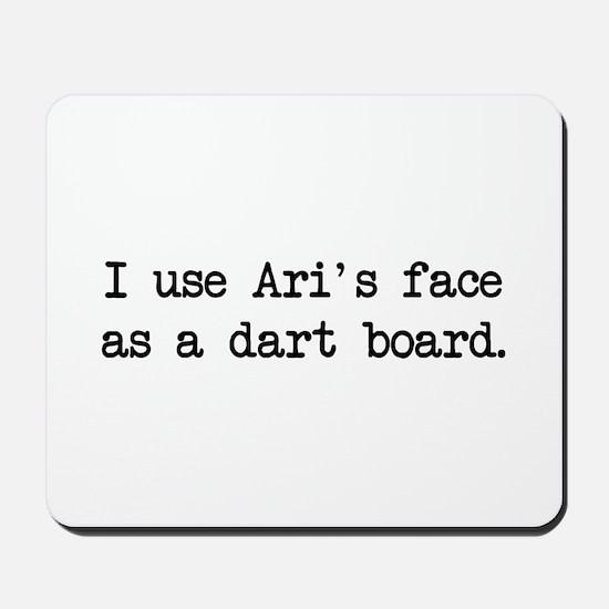 Ari's Face (blk) - Entourage Mousepad